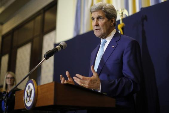 U.S. Secretary of State John Kerry speaks at a news conference in Sharm el-Sheikh March 14, 2015. REUTERS/Brian Snyder