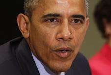 """El presidente de Estados Unidos, Barack Obama, en un evento en la Casa Blanca en Washington, mar 16 2015. El presidente de Estados Unidos, Barack Obama, dijo el martes que la más reciente propuesta presupuestaria de los republicanos """"no refleja el futuro"""" y que espera un minucioso debate sobre el plan. REUTERS/Yuri Gripas"""