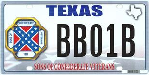 """The design of a proposed """"Sons of the Confederacy"""" Texas state license plate is shown in this handout illustration provided by the Texas Department of Motor Vehicles March 20, 2015.   REUTERS/Texas Department of Motor Vehicles/Handout via Reuters"""