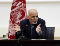 """Президент Афганистана Ашраф Гани на пресс-конференции в Кабуле. 21 марта 2015 года. Президент Афганистана Ашраф Гани назвал """"Исламское государство"""" """"страшной угрозой"""" странам Восточной и Центральной Азии, поделившись в среду своей тревогой с американскими парламентариями. REUTERS/Omar Sobhani"""