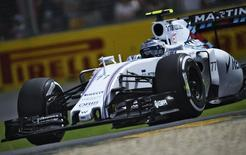Williams Formula One driver Valtteri Bottas of Finland drives during the third practice session of the Australian F1 Grand Prix at the Albert Park circuit in Melbourne March 14, 2015. REUTERS/Jason Reed
