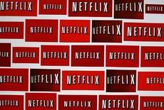 """Foto de archivo del logo de Netflix. Oct 14, 2014. El proveedor de servicios de video en línea Netflix Inc dijo que estrenará su próxima serie, """"Montauk"""", en el 2016 mientras busca aumentar su contenido original en un mercado altamente competitivo.  REUTERS/Mike Blake"""