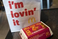 A McDonald's 10 piece chicken McNuggets box is photographed at the Times Square location in New York March 4, 2015. REUTERS/Shannon Stapleton