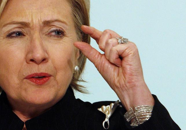 4月12日、米大統領選挙への立候補を正式に表明した民主党のクリントン前国務長官だが、ネットでは選挙キャンペーンのロゴのデザインが不評だ。エジプトのシャルム・エル・シェイクで2009年3月撮影(2015年 ロイター/Asmaa Waguih)