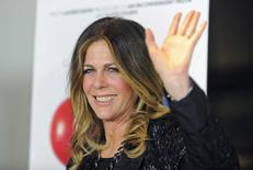 """Actress Rita Wilson arrives at the premiere of documentary film """"Fed Up"""" in West Hollywood, California May 8, 2014. REUTERS/Gus Ruelas"""