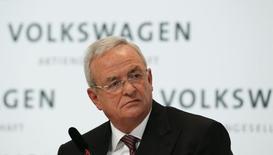 Volkswagen Chief Executive Martin Winterkorn speaks at the annual news conference of Volkswagen in Berlin March 12, 2015.              REUTERS/Fabrizio Bensch