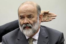 Tesoureiro do PT, João Vaccari Neto, em depoimento na CPI da Petrobras. 09/04/2015 REUTERS/Ueslei Marcelino