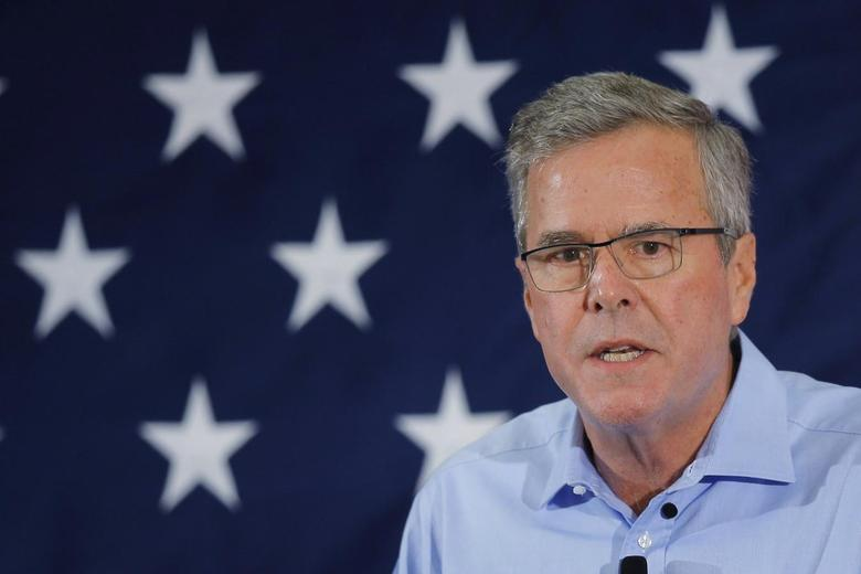 Former Florida Governor and probable 2016 Republican presidential candidate Jeb Bush speaks at the First in the Nation Republican Leadership Conference in Nashua, New Hampshire April 17, 2015.  REUTERS/Brian Snyder