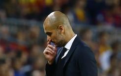 Técnico do Bayern de Munique, Pep Guardiola. 06/05/2015 REUTERS/Kai Pfaffenbach