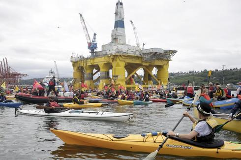 Seattle protests Arctic oil rig