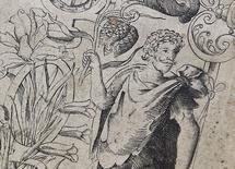 """Una imagen de Shakespeare en la primera edición de """"The Herball"""", en una oficina en Londres, Inglaterra, 19 de mayo de 2015. Una revista británica publicará una imagen que asegura es el primero y único retrato conocido demostrable hecho durante la vida de William Shakespeare.  REUTERS/Toby Melville"""
