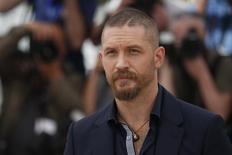 Ator Tom Hardy durante sessão de fotos no Festival de Cinema de Cannes, na França, na semana passada. 14/05/2015 REUTERS/Benoit Tessier