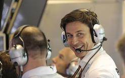 Mercedes motorsport head Toto Wolff in Abu Dhabi November 21, 2014. REUTERS/Caren Firouz