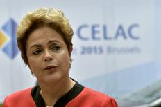 Presidente Dilma Rousseff na Bélgica 10/6/2015 REUTERS/Eric Vidal