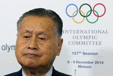 Yoshiro Mori, Japan's former Prime Minister and president of Tokyo 2020 Organizing Committee of Olympic and Paralympic games, answers to the media during the 127th International Olympic Committee (IOC) session in Monaco December 8, 2014.  REUTERS/Eric Gaillard