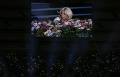 Lady Gaga canta em abertura de Jogos Europeus em Baku. 12/6/2015.  REUTERS/Stoyan Nenov