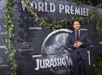 """Chris Pratt,  do filme """"Jurassic World"""" em Hollywood 9/6/2015 REUTERS/Mario Anzuoni"""