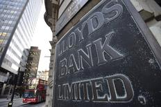 A branch of Lloyds Bank is seen in the City of London December 16, 2014. REUTERS/Toby Melville