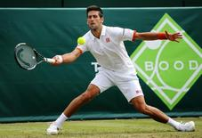 Tennis - Boodles Tennis Challenge - Stoke Park, Buckinghamshire - 25/6/15 Serbia's Novak Djokovic in action Action Images via Reuters / Paul Childs