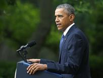 Presidente dos EUA, Barack Obama, durante discurso em Washington.  26/06/2015  REUTERS/Gary Cameron