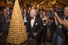 A Croquembouche is presented at chef Jacques Pepin's 80th Birthday celebration at the FOOD & WINE Classic in Aspen, Colorado June 19, 2015 in this handout picture provided by FOOD & WINE magazine. REUTERS/Galdones Photography/Courtesy of FOOD & WINE magazine/Handout via Reuters
