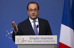 Presidente da França, François Hollande, durante encontro em Paris.  10/07/2015    REUTERS/Ian Langsdon/Pool