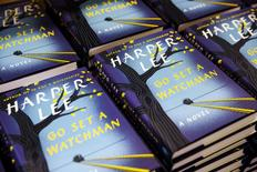 "Copies of Harper Lee's book ""Go Set a Watchman"" are displayed on a table inside of a Barnes & Noble store in New York, July 14, 2015. REUTERS/Lucas Jackson"