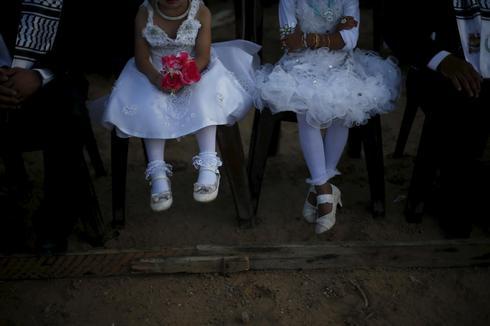 Mass wedding in Gaza