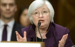 U.S. Federal Reserve Board Chair Janet Yellen delivers her semi-annual report on monetary policy before the Senate Banking and Urban Affairs Committee, on Capitol Hill in Washington, July 16, 2015. REUTERS/Mike Theiler