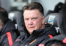 Técnico do Manchester United, Louis van Gaal. 21/02/2015 Action Images via Reuters / Matthew Childs
