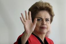 Presidente do Brasil, Dilma Rousseff, durante cúpula em Brasília.   17/07/2015   REUTERS/Ueslei Marcelino