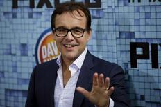 """Film director Chris Columbus attends the premiere of the movie """"Pixels"""" in New York July 18, 2015. REUTERS/Eduardo Munoz"""