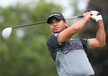Jason Day (AUS) hits the ball on the second tee box in the third round of the RBC Canadian Open at Glen Abbey Golf Club. Mandatory Credit: Jean-Yves Ahern-USA TODAY Sports