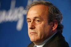 Presidente da Uefa, Michel Platini, durante evento em Paris.   10/06/2015    REUTERS/Charles Platiau