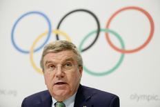 Presidente do Comitê Olímpico Internacional, Thomas Bach durante evento na Suíça.  08/06/2015  REUTERS/Pierre Albouy