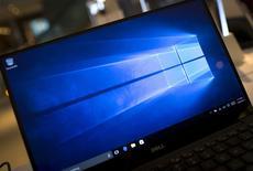 Laptop roda demonstração do Windows 10 em loja da Microsoft em Nova York. 28/07/2015. REUTERS/Mike Segar