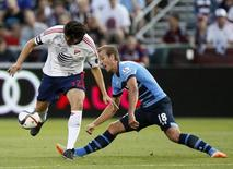 Football - MLS All-Stars v Tottenham Hotspur - AT&T MLS All Stars Game - Pre Season Friendly - Dick's Sporting Goods Park, Colorado, United States of America - 29/7/15 MLS All-Star's Kaka in action with Tottenham's Harry Kane (R) Action Images via Reuters / Rick Wilking Livepic
