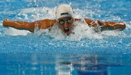 Katinka Hosszu of Hungary swims to set a new World Record in the women's 200m individual medley final at the Aquatics World Championships in Kazan, Russia August 3, 2015.    REUTERS/Stefan Wermuth