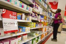 A customer shops in the pharmacy department of a Target store in the Brooklyn borough of New York June 15, 2015.  REUTERS/Brendan McDermid