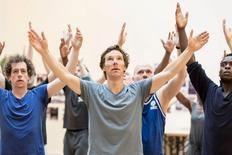 "Actor Benedict Cumberbatch (C) rehearses for Lyndsey Turner's production of William Shakespeare's ""Hamlet"" in London, in this handout photograph dated July 14, 2015 and released in London on August 7, 2015. REUTERS/Johan Persson/Handout via Reuters"