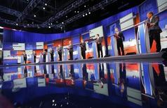 Debate de 10 pré-candidatos republicanos à Presidência dos Estados Unidos, na Fox News, em Cleveland, Ohio, Estados Unidos, na quinta-feira. 06/08/2015 REUTERS/Brian Snyder