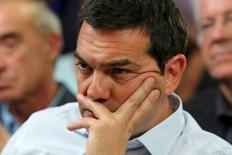 Greek Prime Minister Alexis Tsipras   in central Athens, Greece, August 5, 2015.  REUTERS/Yiannis Kourtoglou