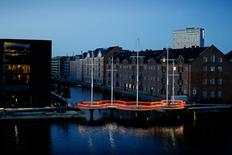 """Reminiscent of sailing boats, the Olafur Eliasson-designed Cirkelbroen, or circle bridge, is made of five circular platforms in different sizes, each with its own """"mast"""", according to Danish foundation Nordea-fonden which commissioned its construction. REUTERS/Soren Svendsen/Nordea-fonden/Handout"""