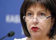 Ministra das Finanças da Ucrânia, Natalia Yaresko, concede entrevista coletiva em Kiev. 19/06/2015 REUTERS/Valentyn Ogirenko