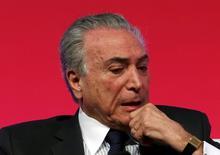 Vice-presidente, Michel Temer, em São Paulo. 31/8/2015 REUTERS/Paulo Whitaker