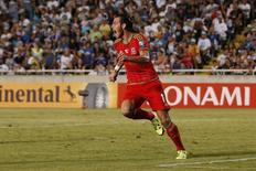 Gareth Bale, do País de Gales, comemora gol marcado contra Chipre pelas eliminatórias para a Eurocopa em Nicosia. 03/09/2015 REUTERS/Action Images/Andrew Boyers