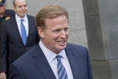 NFL Commissioner Roger Goodell exits the Manhattan Federal Courthouse in New York August 12, 2015. REUTERS/Brendan McDermid