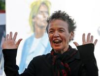 """Director Laurie Anderson attends the red carpet event for the movie """"The Heart of  Dog"""" at the 72nd Venice Film Festival, northern Italy September 9, 2015. REUTERS/Stefano Rellandini"""