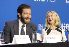 "Cast members Jake Gyllenhaal (L) and Naomi Watts attend a news conference to promote the film ""Demolition"" at TIFF the Toronto International Film Festival in Toronto September 11, 2015.    REUTERS/Fred Thornhill"