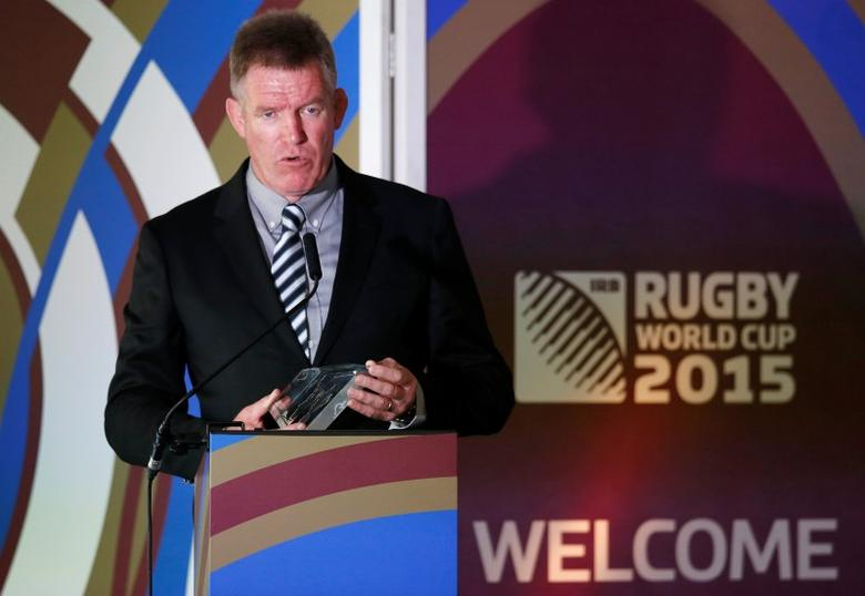 Rugby Union - Fiji - Rugby World Cup Welcome Ceremony - Hampton Court Palace, London - 10/9/15Fiji head coach John McKee talks during the welcomeAction Images via Reuters / Paul Childs